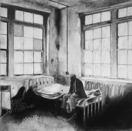 O fantasma sai de cena - 2014 - Desenho e técnica mista - 49x49cm